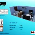 studio 21.35 sq.m.
