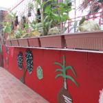 Artistic designed perimeter fence